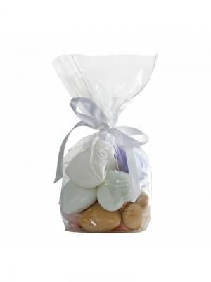 Косметическое мыло Le Blanc 12 кусочков мыла Сердечки в мешочке. Ассорти Blanc.. Цвет: сиреневый, белый, розовый