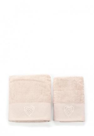 Комплект полотенец 2 шт. Sofi De Marko. Цвет: бежевый
