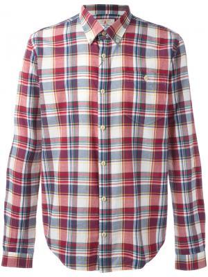Рубашка на пуговицах Oscar Barbour. Цвет: красный