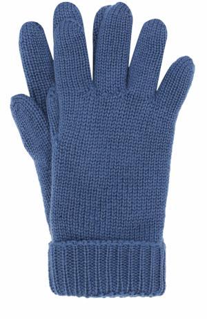 Шерстяные перчатки Il Trenino. Цвет: синий