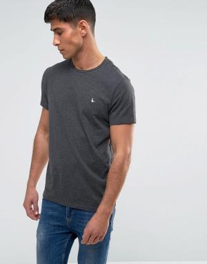 Jack Wills Темно-серая футболка Sandleford. Цвет: серый