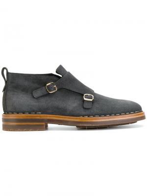 Туфли монки Santoni. Цвет: серый