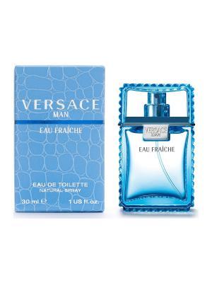 Туалетная вода Eau Fraiche, 30 мл Versace. Цвет: голубой