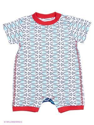 Комбинезон Baby Club. Цвет: голубой, красный, белый
