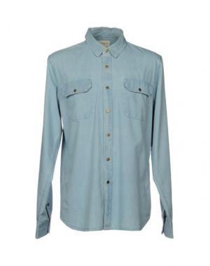 Джинсовая рубашка OBEY PROPAGANDA. Цвет: синий