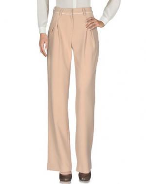 Повседневные брюки SELF-PORTRAIT. Цвет: песочный