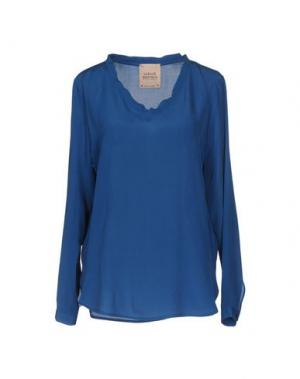 Блузка GARAGE NOUVEAU. Цвет: синий