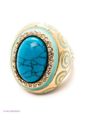 Кольцо Art Silver. Цвет: золотистый, бирюзовый