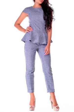 Блуза REBECCA TATTI. Цвет: дымчатый