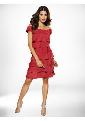 Платье Ashley Brooke. Цвет: желтый, изумрудный, коралловый, красный, розовый, темно-синий, черный