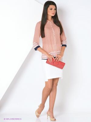 Блузка Femme. Цвет: персиковый