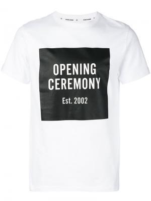 Футболка с рисунком Opening Ceremony. Цвет: белый