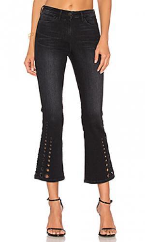 Укороченные расклешенные брюки midway dot 3x1. Цвет: none