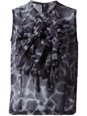 Классическая блузка Comme Des Garçons. Цвет: серый