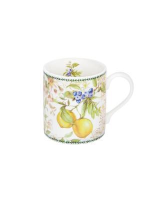 Кружка - подарок Лимоны Elan Gallery. Цвет: зеленый, белый, желтый