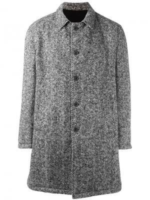 Однобортное пальто Wooster + Lardini. Цвет: чёрный