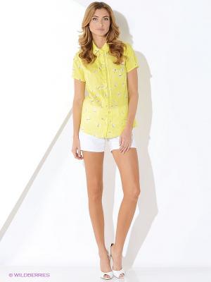Блузка Malvin. Цвет: светло-желтый