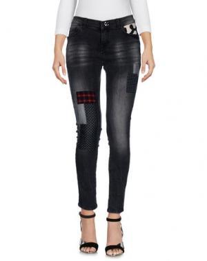 Джинсовые брюки SUPERPANTS. Цвет: черный