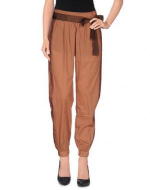 Повседневные брюки NOLITA. Цвет: коричневый