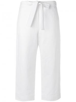 Укороченные брюки Sara Lanzi. Цвет: белый