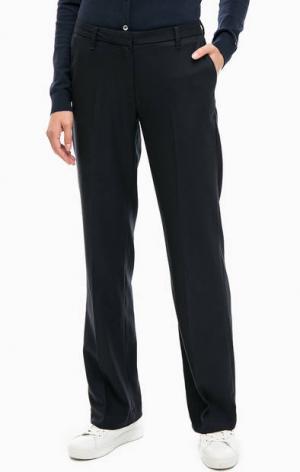 Прямые брюки темно-синего цвета Gant. Цвет: синий