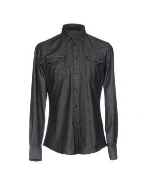 Джинсовая рубашка HYDROGEN. Цвет: черный