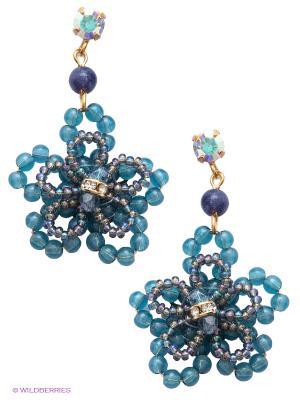 Серьги Maru by Safri. Цвет: синий