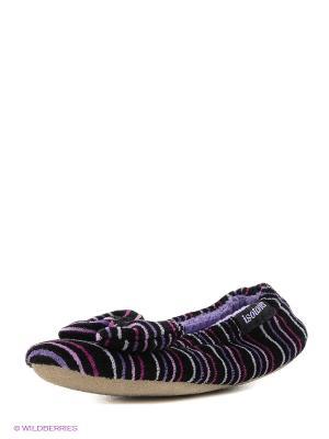 Тапочки Isotoner. Цвет: сиреневый, малиновый, фиолетовый, черный