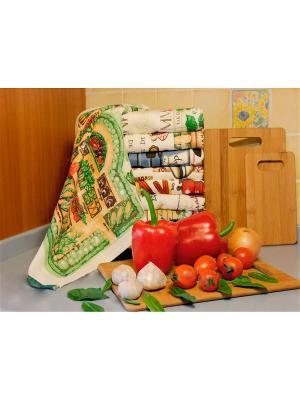 Полотенце для кухни Хлопковый Край. Цвет: зеленый, красный