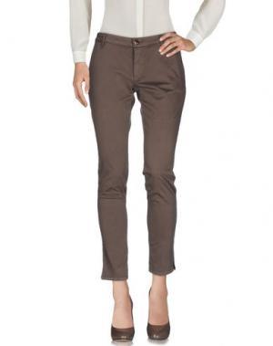 Повседневные брюки (+) PEOPLE. Цвет: хаки