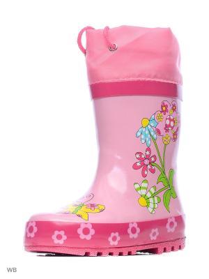 Резиновые сапоги Mursu. Цвет: фуксия, розовый