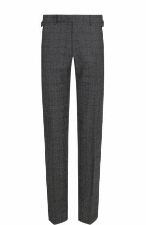 Шерстяные брюки прямого кроя Ermenegildo Zegna. Цвет: серый