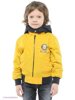 Куртка MES AMI. Цвет: желтый