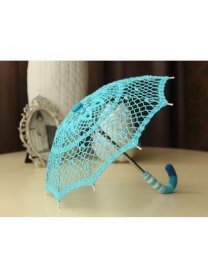 Интерьерный зонт Волна Локсы. Цвет: бирюзовый, синий