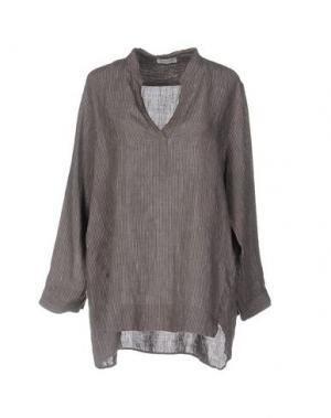 Блузка ROSSO35. Цвет: свинцово-серый