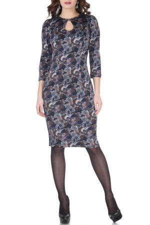 Платье Grey Cat. Цвет: сине-коричневый, мозаика