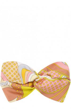 Шелковая повязка с принтом Emilio Pucci. Цвет: желтый