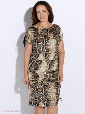Платье BALSAKO. Цвет: золотистый