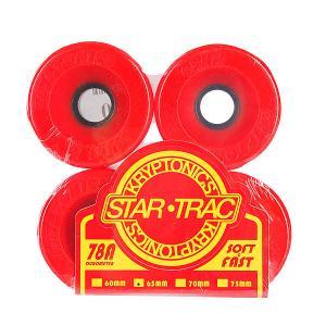 Колеса для скейтборда лонгборда  Star Trac Premium Red 78A 65mm Kryptonics. Цвет: красный