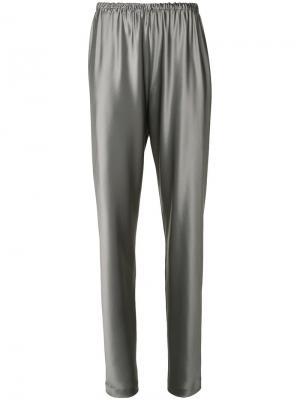 Шелковые брюки Peter Cohen. Цвет: серый