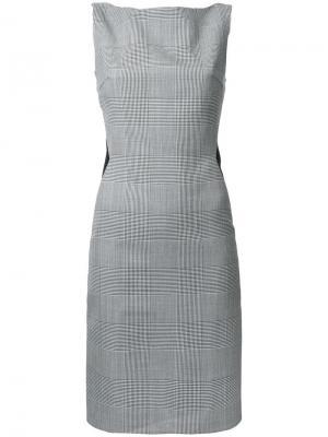 Приталенное платье в клетку Gareth Pugh. Цвет: чёрный