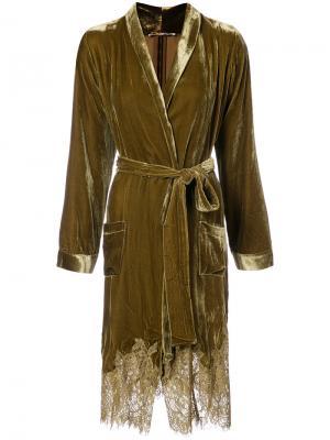 Draped metallic coat Gold Hawk. Цвет: металлический