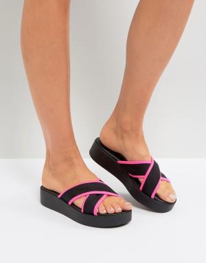 New Look Массивные слайдеры с неоновой отделкой. Цвет: розовый