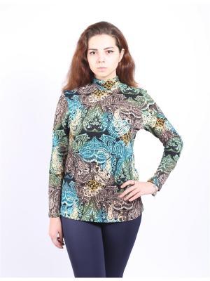 Водолазка Yuliya Shehodanova. Цвет: черный, бежевый, бирюзовый
