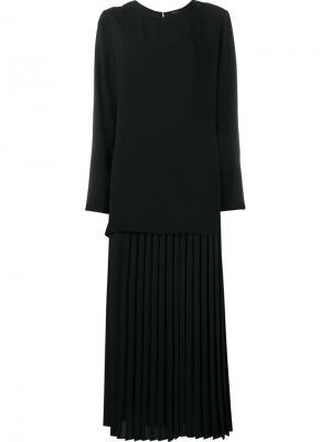 Многослойное платье Adam Lippes. Цвет: чёрный