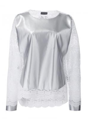 Lace detail sweatshirt Les Animaux. Цвет: металлический