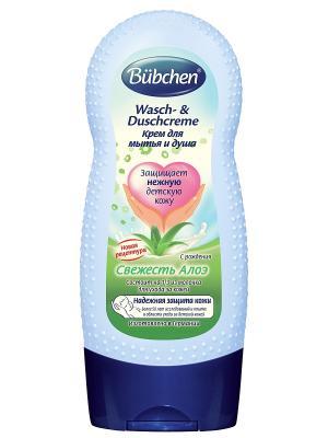 Крем для мытья и душа Свежесть алоэ, 230 мл. Bubchen. Цвет: прозрачный