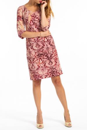 Платье TOK. Цвет: vinous, pink, beige