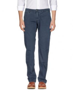 Повседневные брюки SIVIGLIA WHITE. Цвет: грифельно-синий