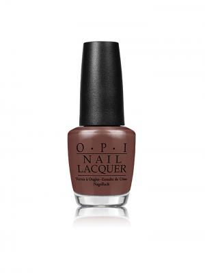 Лак для ногтей Squeaker Of The House, 15 мл OPI. Цвет: коричневый